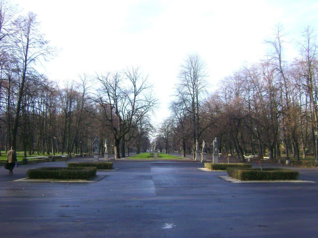 Parque Saski en Varsovia